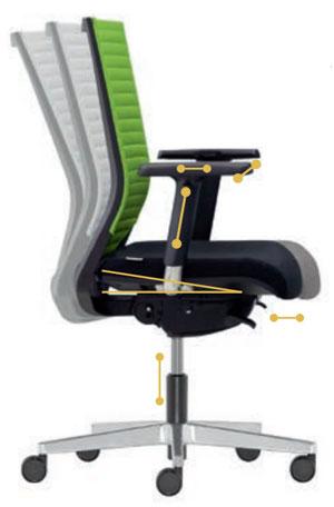Kényelmes irodai szék