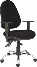 Irodai szék, erősített, ergonómikus, forgó, görgős Aser